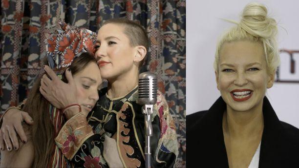 Music on Sian (oik.) esikoisohjaus. Maddie Ziegler (vas.) ja Kate Hudson näyttelevät elokuvassa.
