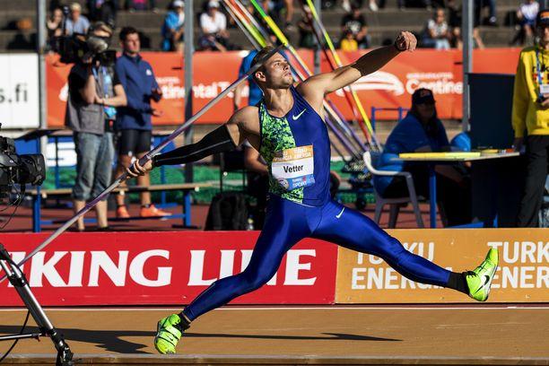 Johannes Vetterin 91,49 oli Paavo Nurmi Gamesin kovin yksittäinen tulos.