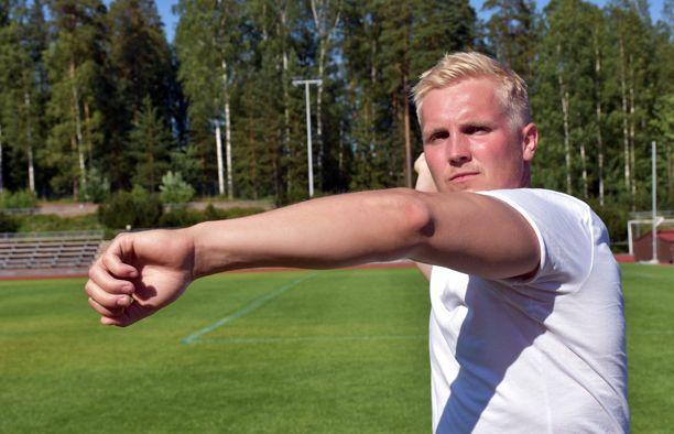 Toni Kuusela kilpailee lauantaina Vantaalla.