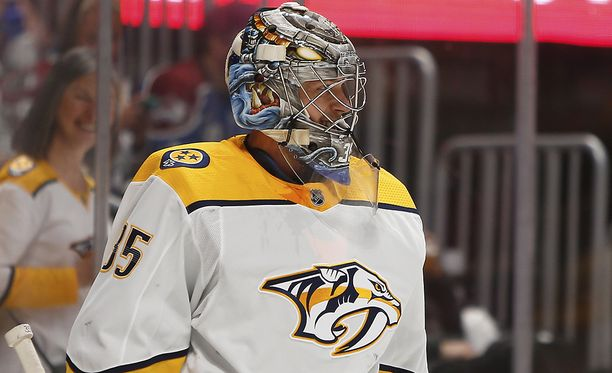 Pekka Rinne pelasi loistavan ottelun Winnipegissä.