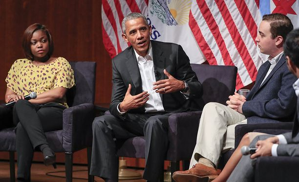 Obama puhui Chicagossa yliopistossa, jossa on itse aikoinaan opettanut lakia.
