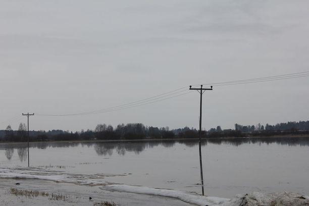 Lapuanjoen tulvahuipun ennustetaan olevan 20.-21.4.