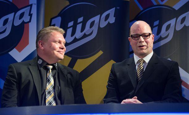KalPan Pekka Virta ja Lukon Risto Dufva osaavat kamppailla myös verbaalisesti.
