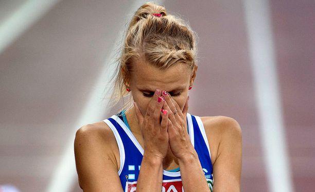 Sandra Eriksson jäi 3000 metrin estefinaalissa sijalle yhdeksän.