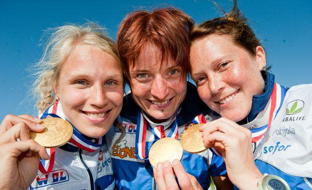 MAISTUU Suomen naissuunnistajat voittivat viestikullan toista kertaa peräkkäin.