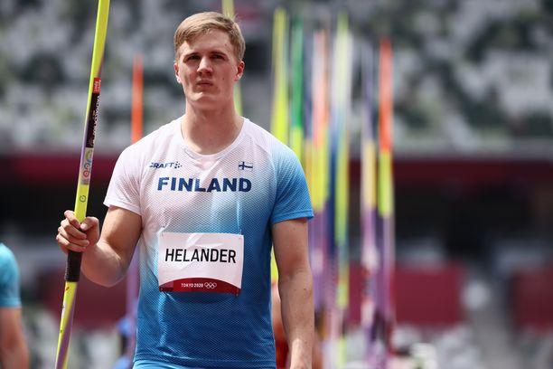 Oliver Helander jäi keihäskarsintaan.