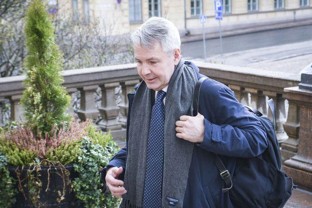Pekka Haavisto ei kommentoinut kysyttäessä häneen kohdistuvista rikosepäilyistä.