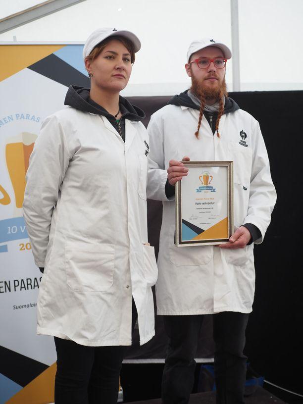 Suomen Paras olut 2020 titteli meni Honkavuoren panimon Valo-vehnäoluelle.