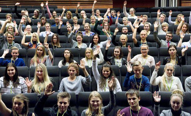 Euroopan nuorten parlamentti kokoontui Kangasalla viime vuonna.