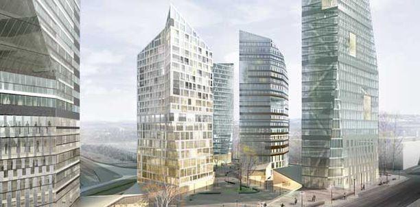 Uuden kaupunkialueen korkein torni olisi 40 kerroksinen.