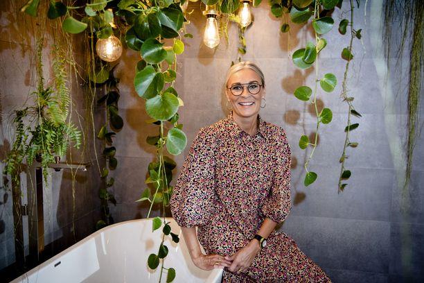 Seija Strand suunnitteli K-Raudan osastolle Habitareen neljä erilaista kylpyhuonetta.
