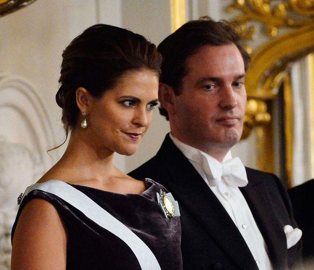 Madde ja puoliso Chris vuonna 2012.