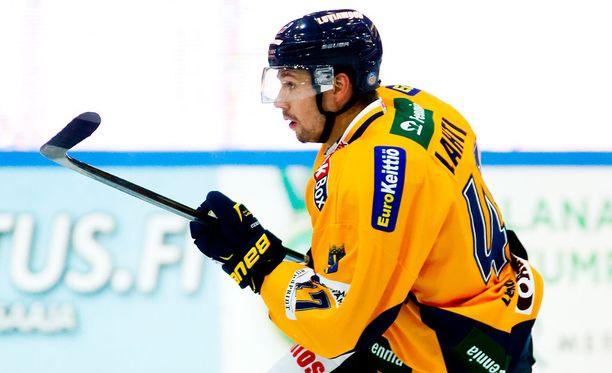 Janne Lahti koki kovia Lukon harjoituksissa.