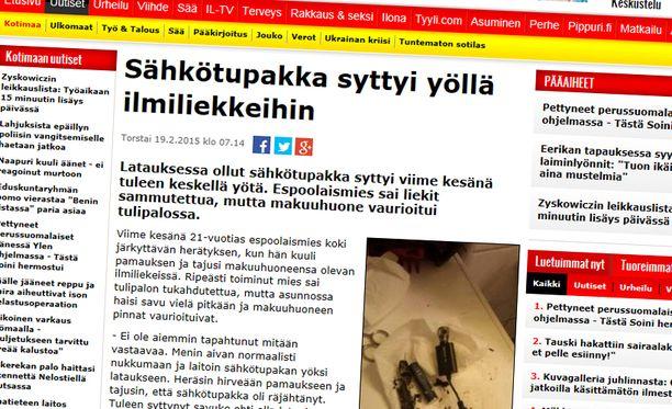 Iltalehti kertoi tapauksesta viime viikolla.