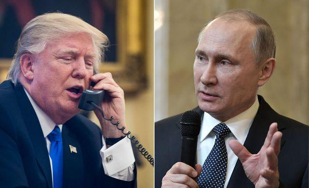 Donald Trump ja Vladimir Putin keskustelivat puhelimessa lauantaina.
