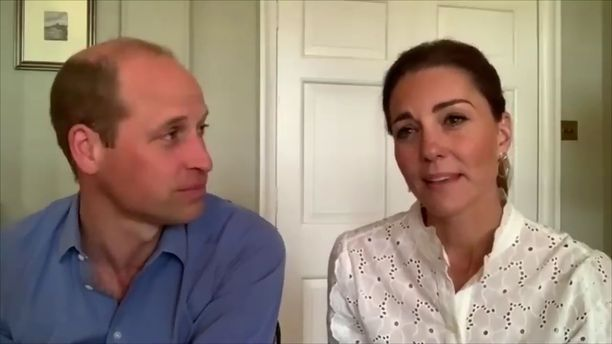 Prinssi William ja herttuatar Catherine ovat tehneet koko korona-ajan ahkerasti töitä muun muassa videopuheluiden välityksellä.