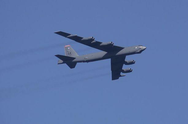 Yhdysvaltain strateginen pommikone Boeing B-52 Stratofortress.