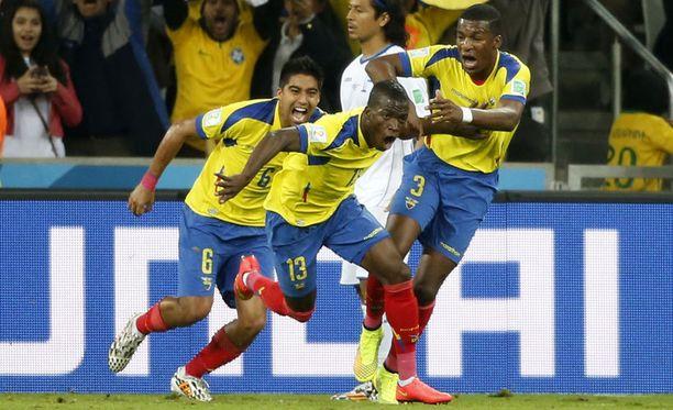 Ecuador juhli Enner Valencian johdolla.