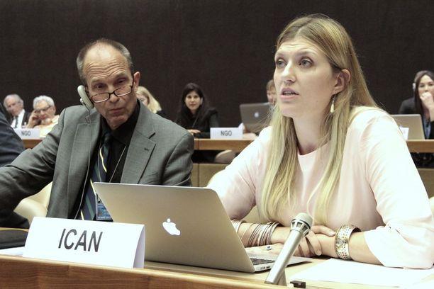 ICAN-järjestön johtaja on ruotsalainen Beatrice Fihn.