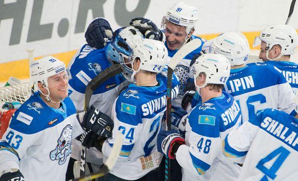 Barys Astana jatkoi Jokerien tappioputken kolmeen otteluun.