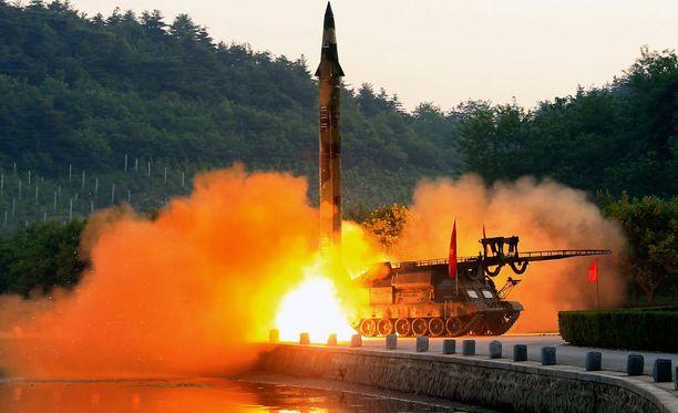 Kuva koelaukaisusta, jonka Pohjois-Korea on julkaissut. Kuvalla ei ole päivämäärää.