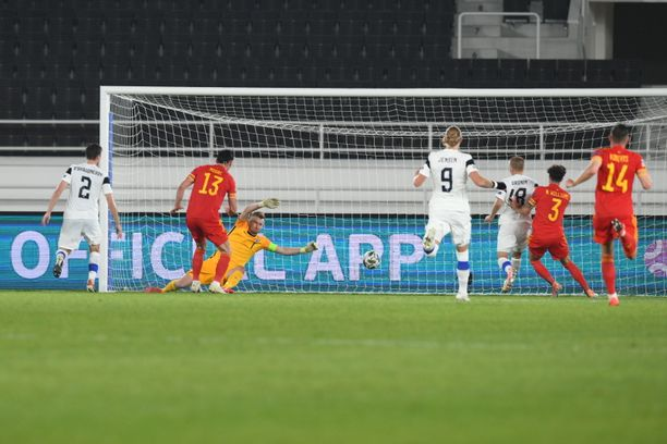 Wales iski ottelun ainoan maalin.