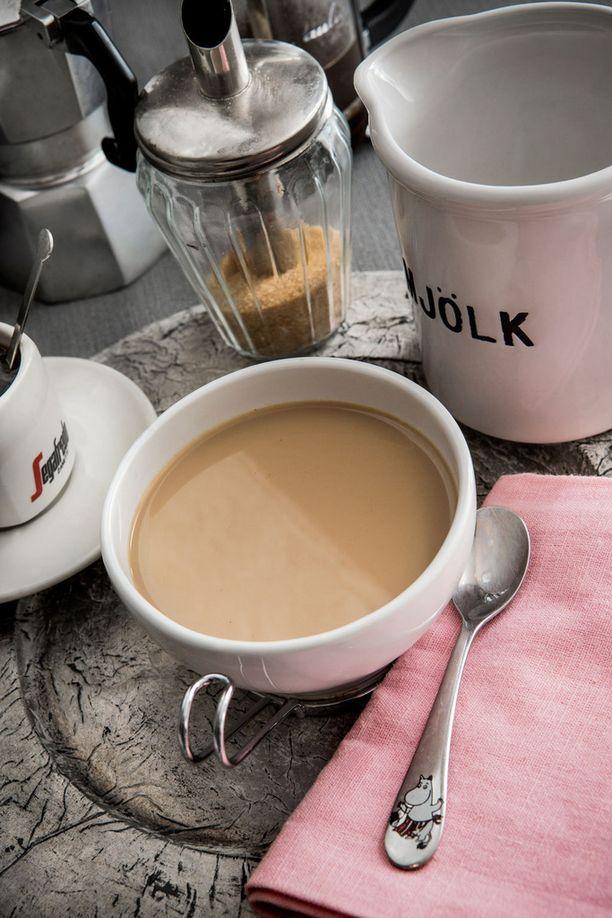 Ranskalaista maitokahvia ei pidä sekoittaa italialaiseen.