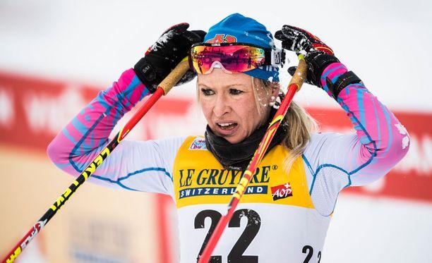 Riitta-Liisa Roponen joutui epämukavuusalueelle Ulricehamnin viestissä.