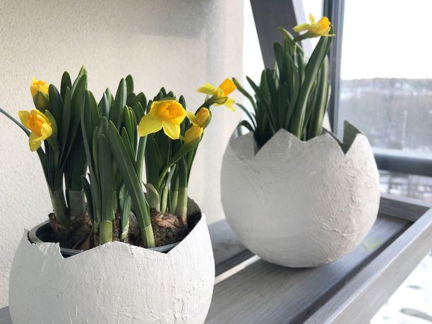 Kulho on ihana kukille, mutta voit laittaa sinne myös vaikka pääsiäiskarkkeja.