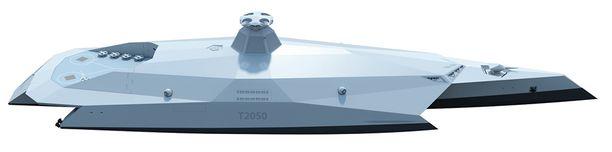 Aluksen toiminnot automatisoidaan niin, että miehistöä tarvitaan vain noin 50.