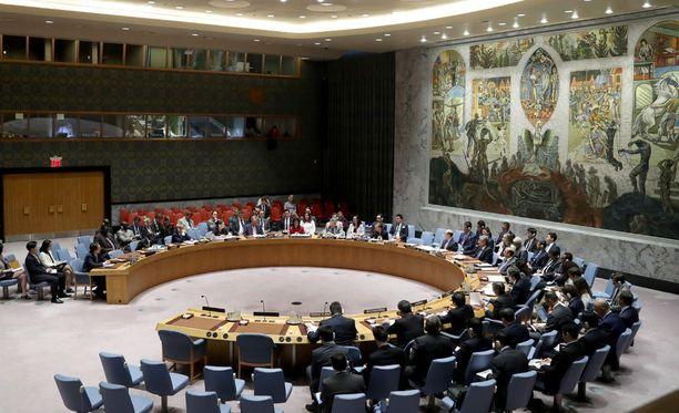 YK:n turvallisuusneuvosto pohti hätäkokouksessa Pohjois-Korean tilannetta.