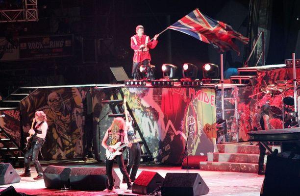 Iron Maiden tunnetaan muun muassa massiivisista lavarakenteistaan.