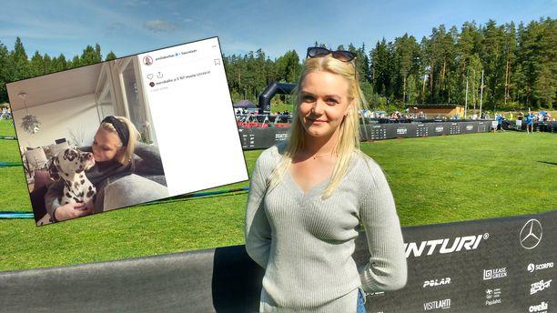 Emilia Bottas julkaisi ensimmäisen kuvansa Instagramissa Bottasten eron jälkeen.