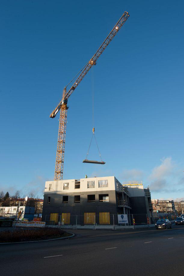 Etla arvioi rakennusalan ajautuvan taantumaan ensi vuonna. Arkistokuvaa.