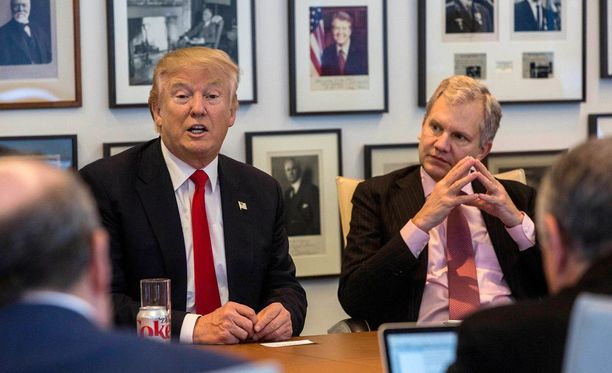 Donald Trump oli tapaamassa kampanjansa aikana parjaamaansa New York Timesin toimitusta.