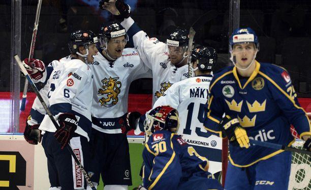 Suomi löi Ruotsin Göteborgissa 3-1.
