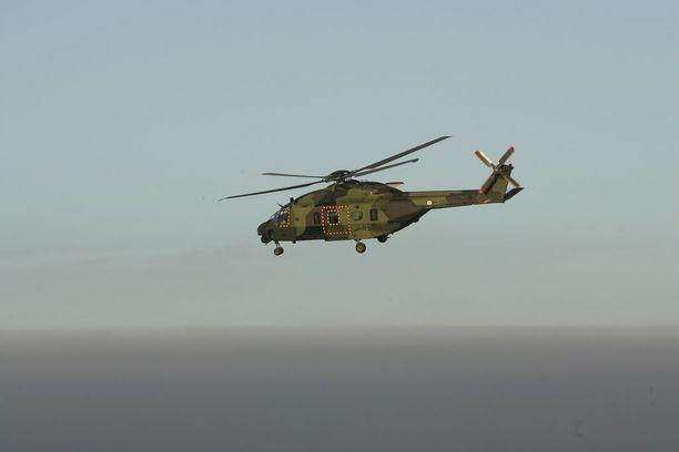 NH90-kuljetushelikopterin lentotunnin hinta on tänä vuonna lähes 16 000 euroa.