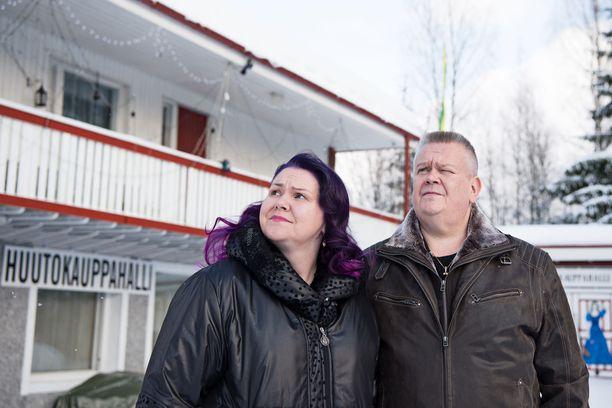 Heli ja Aki Palsanmäki vuonna 2018.