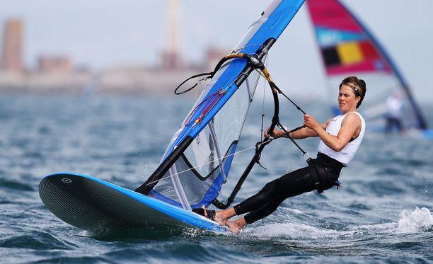 Tuuli Petäjä-Sirén purjehti olympiahopealle Lontoossa 2012.