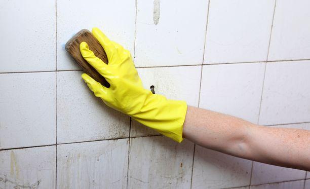 Olo ei tule puhtaaksi, jos peseytyy likaisessa kylpyhuoneessa.