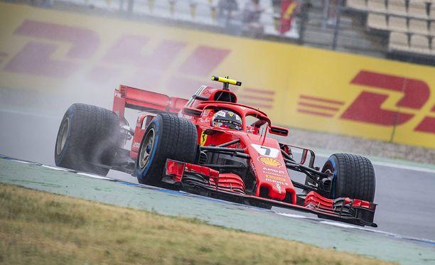Kimi Räikkönen lähtee taistelemaan paalupaikasta Hockenheimringillä.