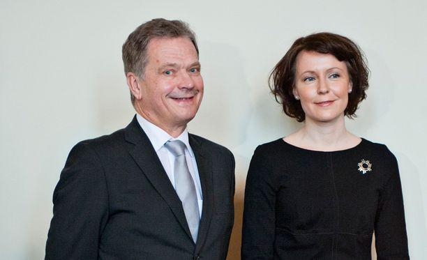 Sauli Niinistö ja Jenni Haukio ovat luontoihmisiä.