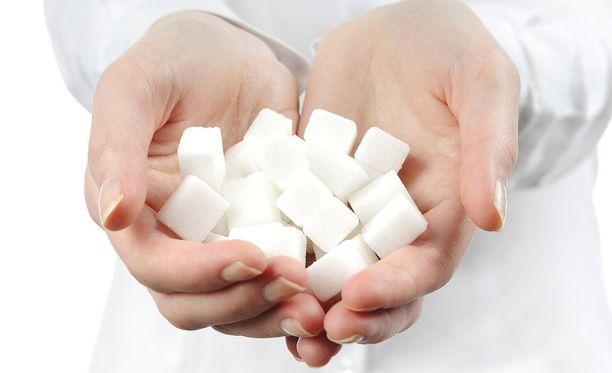 Sokeri on epäterveellistä suurina määrinä.