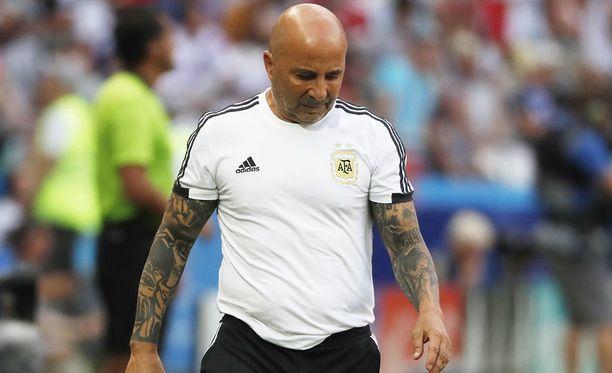 Jorge Sampaoli ei halua luopua Argentiinan päävalmentajan tehtävästään.