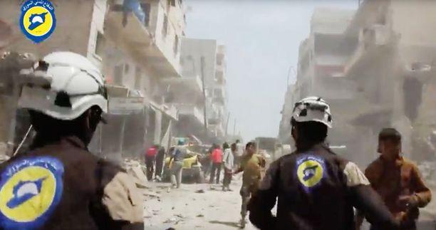 Kansalaisjärjestö julkaisi sunnuntaina videon ilmaiskun jälkeisistä tapahtumista Syyrian Aleppossa.