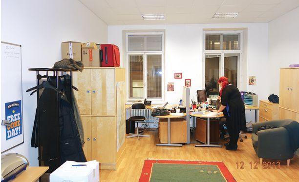 Tältä toimistossa näytti ennen.