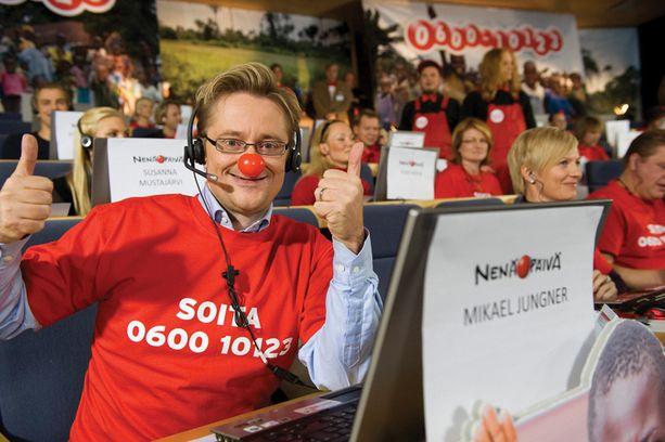 Jungner osallistui Nenäpäivä-hyväntekeväisyystempaukseen viikko sitten.