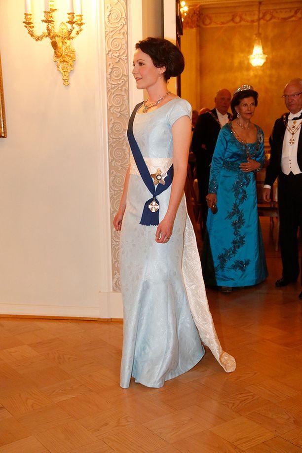 Rouva Jenni Haukio kuuluu illan kuningattariin.