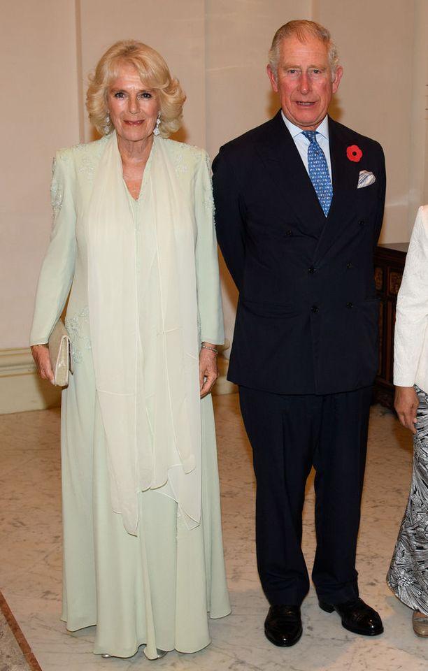Kaksikko osallistui presidentin palatsissa juhlaillalliselle Singaporen vierailullaan.