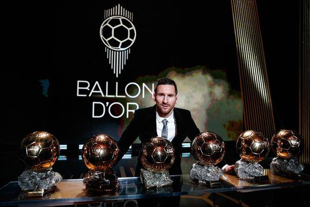 Lionel Messi on pokannut kultaisen pallon ennätykselliset kuusi kertaa.